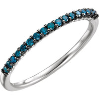 14K White Gold Blue Diamond Ring Ring from [shop name]