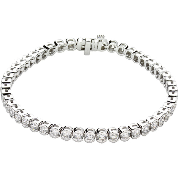 14K White Gold Diamond Line Bracelet Bracelet from [shop name]