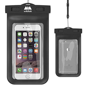 Wildtek Universal Waterproof Cell Phone Case - Black