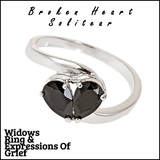 Broken Heart Solitear Plated Ring