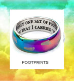 FOOTPRINTS  Prayer Rainbow Finish