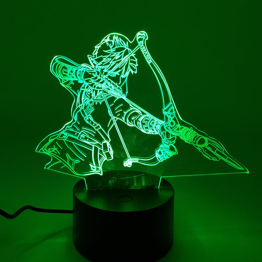 The Legend of Zelda Adult Link Color Changing 3D Illusion Acrylic Lamp