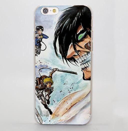 Attack On Titan The Battle Evil Face Flying Impressive iPhone 4 5 6 7 Plus Case - Konoha Stuff
