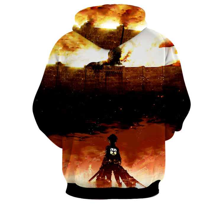 Attack on Titan Eren Jaeger Colossal Titan Fierce Look Hoodie