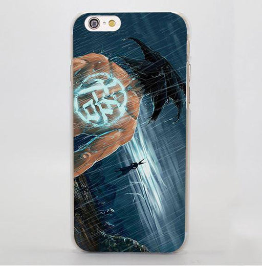 DBZ Goku Go Symbol Kanji Under the Rain Cool iPhone 4 5 6 7 Plus Case