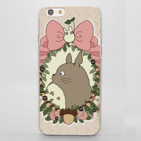 My Neighbor Totoro Cute Totoro Flower iPhone 4 5 6 7 Plus Case
