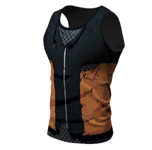 Teen Naruto Damaged 3D Costume Cosplay Compression Workout Tank Top - Konoha Stuff
