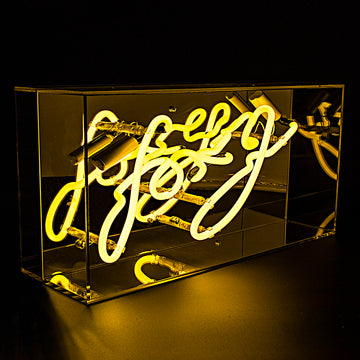 'Foxy' Acrylic Box Neon Light - Locomocean