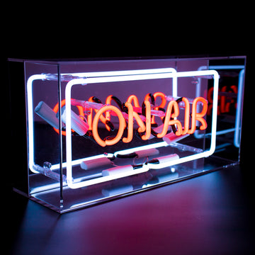 'On Air' Acrylic Box Neon Light - Locomocean