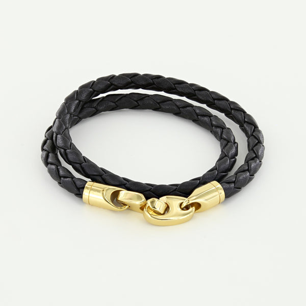 Endeavour Leather Bracelet