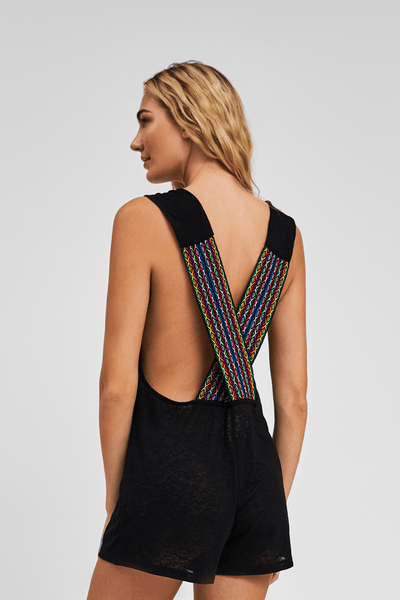 Cross Back Romper