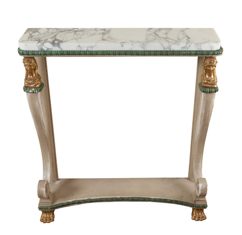 Painted Empire Console Table, Shabby Chic (France, c. 1815)