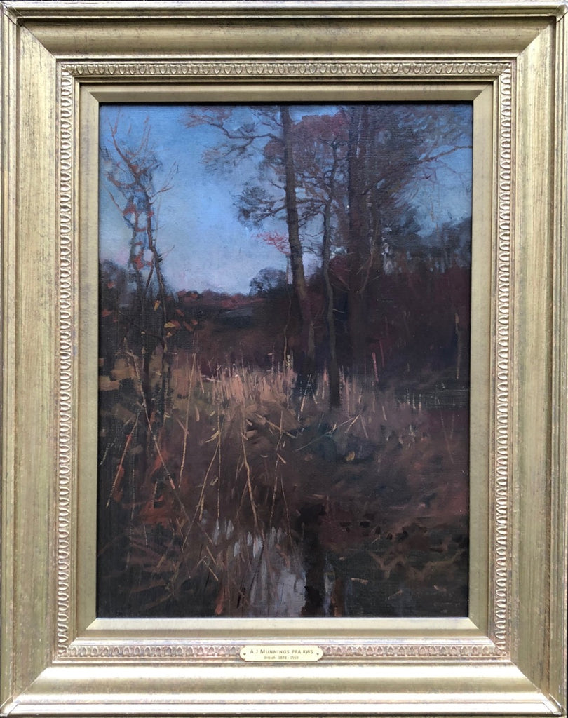 Landscape Oil by Sir Alfred Munnings, KCVO, PRA (1878-1959)