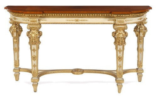 Large French Painted and Gilded Console Table