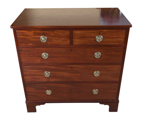 George III Mahogany Flat fronted Mahogany chest of drawers