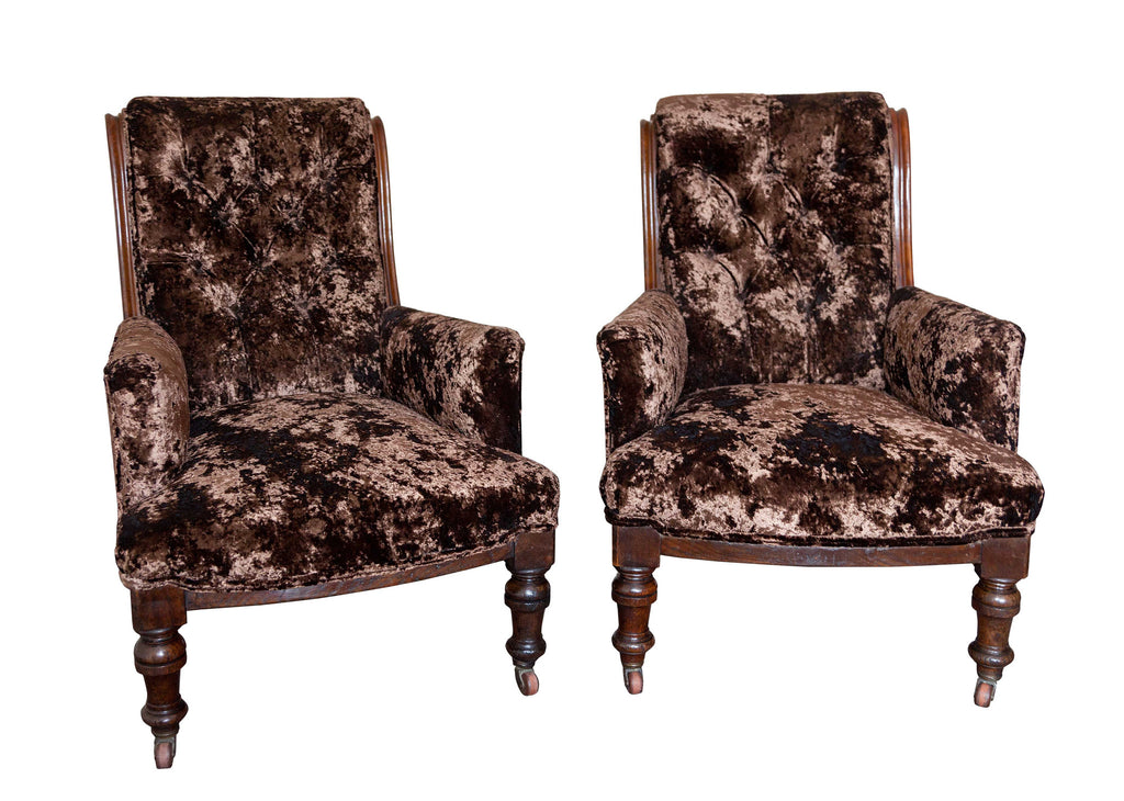 Pair of Late 19th Century Mahogany Library Chairs