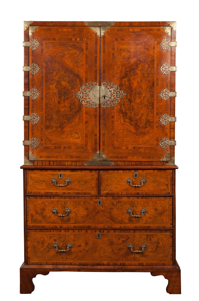 Superb Queen Anne Walnut Cabinet.  Circa 1710