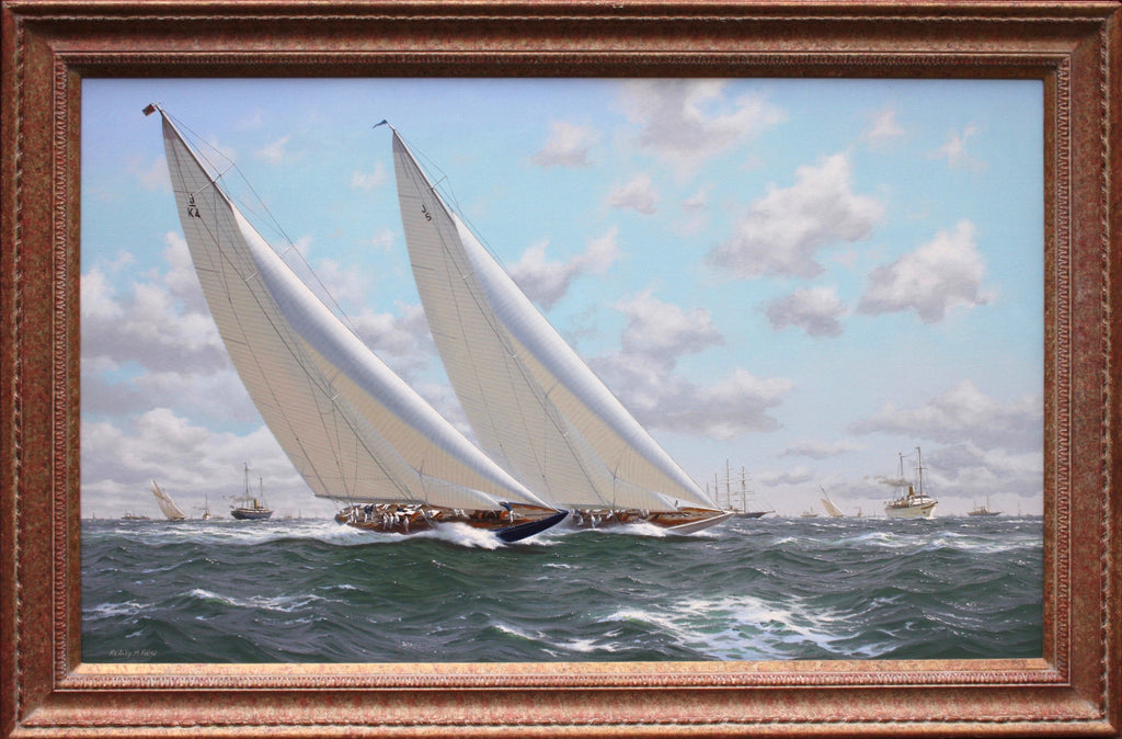 Superb Yachting Scene Oil on Canvas by Richard Firth