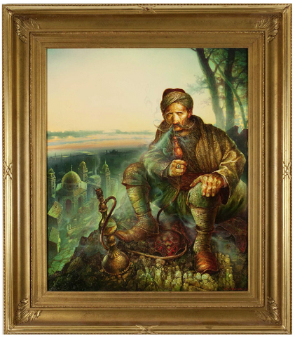 Oil on Canvas 'Cossack' by Stanislav Plutenko (Russian, b.1961)