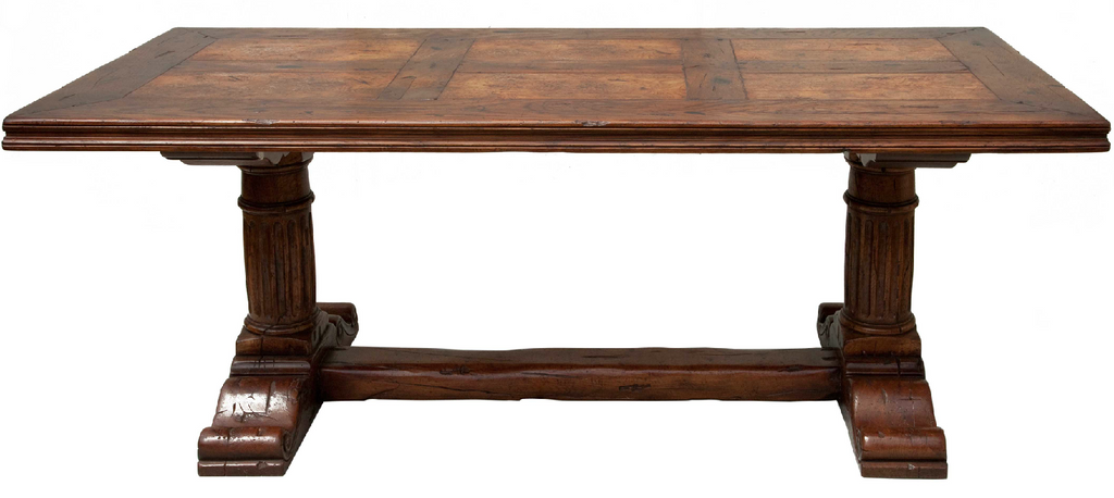 handmade refectory kitchen table