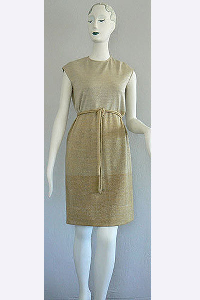 1960s Italian Knit Wool Sparkle Dress