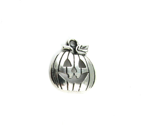 Pumpkin Antique Silver Charm