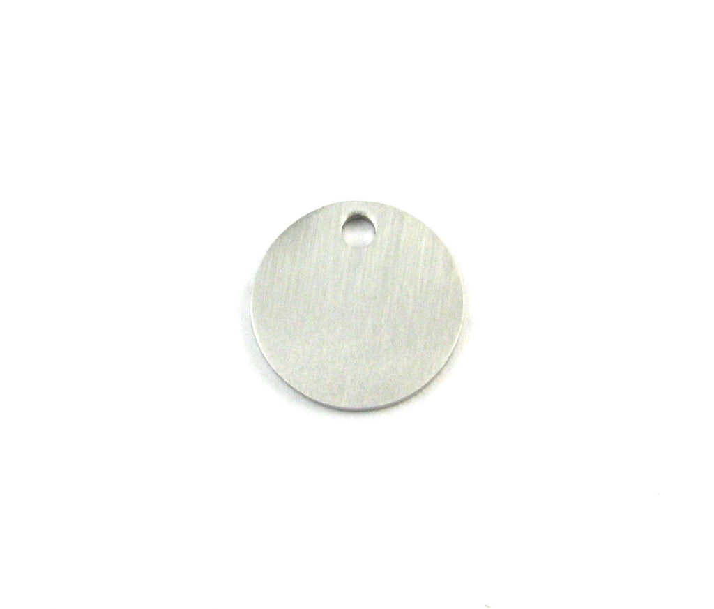 Small Round Blank Stainless Steel Pendant (16mm Round)
