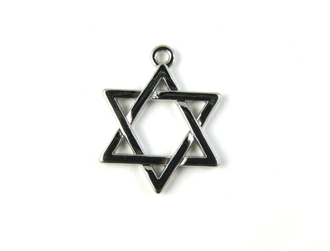 Star of David Silver Plated Charm