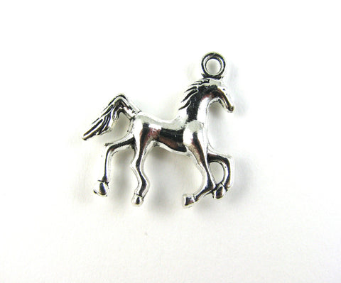 Horse Antique Silver Charm