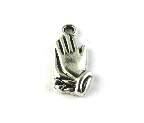 Praying Hands Antique Silver Charm
