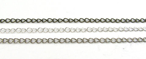 3mm Chain Bracelets (Antique Silver, Silver Plated, Antique Brass)