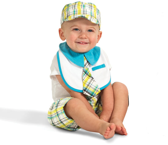 Plaid Sunny Sky Baby Hat Baby Hat Itty Bitty & Handsome - GigglesGear.com