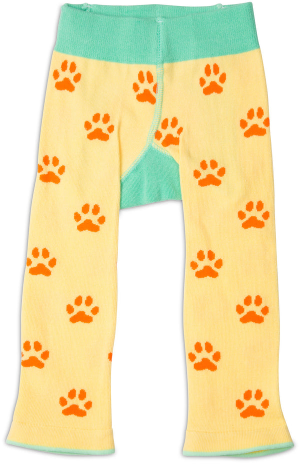 Yellow Safari Lion Baby Leggings Baby Leggings Izzy & Owie - GigglesGear.com