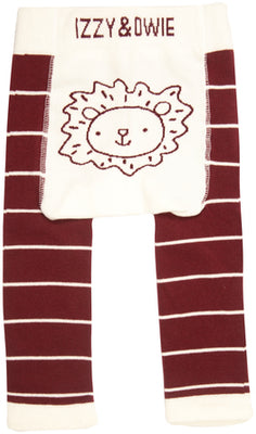 Brown & White Lion Baby Leggings