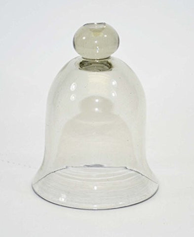Recycled Glass Cloche-8 Inches High x 4.5 Inches Wide at the Body. Handmade.