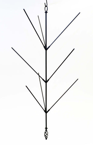 Wrought Iron Hanging Bottle Tree, Holds 9 Bottles-41 Inches High