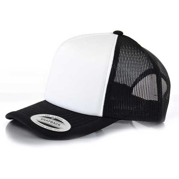 Flexfit Hi Crown Trucker - Black/White - Barefoot Blvd