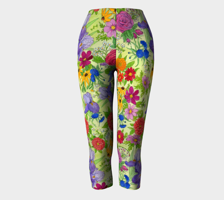 FLOWER GARDEN CAPRI Leggings - Liz Lauter Designs