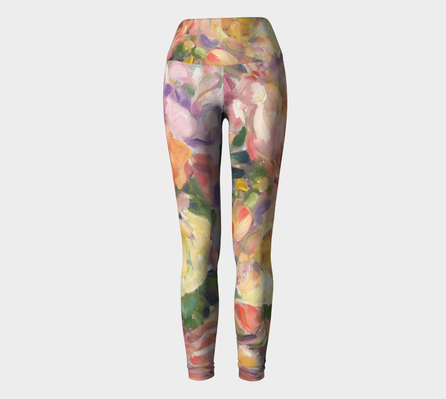 Antique Roses Yoga Pants - Liz Lauter Designs