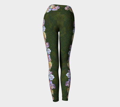 ROSE GARLAND YOGA PANTS - Liz Lauter Designs