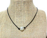 Pearl Leather Cord Necklace