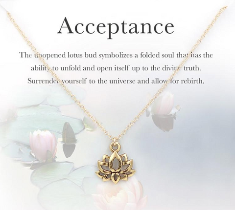 Acceptance Lotus Necklace