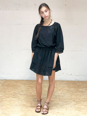 PRE-ORDER Drawcord Minidress - Black