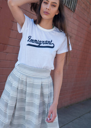 Immigrant Tee - womens,, The Uplifters- Woo