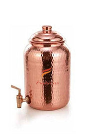 Frabjous Handmade High Quality Pure Solid Copper Water Pot Tank Matka for use Storage Drinking Water Restaurant Hotel Health Benefits for Indian Yoga Ayurveda Capacity- 5 Ltr Eid Special | SpreeIndia.com - India's First Website That Discovers Eco-Friendly Products
