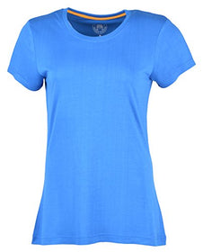 Woodwose Organic Clothing Women's Bamboo T-Shirt (BAWTSRB01-M, Blue, Medium) | SpreeIndia.com - India's First Website That Discovers Eco-Friendly Products