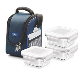 Treo Health First 3 Pcs Square Container Lunch Box, 300Ml | SpreeIndia.com - India's First Website That Discovers Eco-Friendly Products