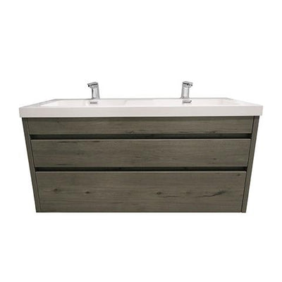 ELITE CUBE 1200 2 DRAWER DOUBLE BASIN WALL HUNG STOCK VANITY & TOP, 4 COLOURS