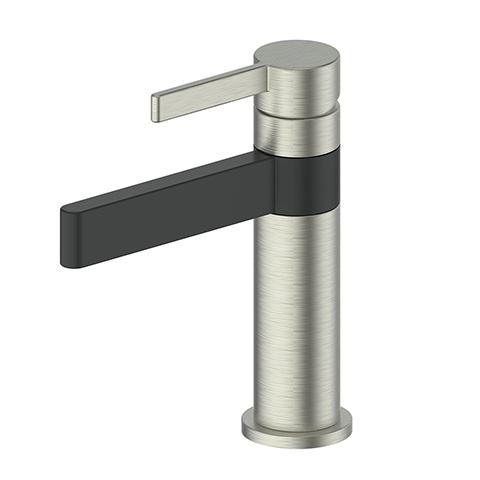 GLINT BASIN MIXER BRUSHED NICKEL/MATTE BLACK