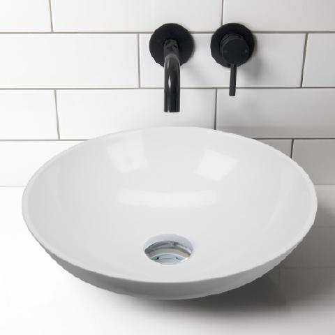ELITE ARC QUARTZ ROUND BASIN 430X130MM 4 COLOURS